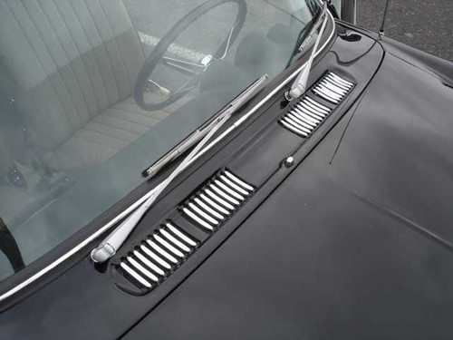 FRONT COWL TRIM SET - TYPE 3 1961-1967, FOR CARS w/RECESSED COWL