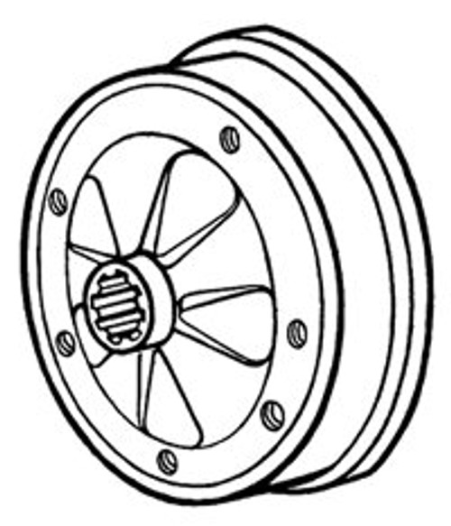 BRAKE DRUM, REAR, TYPE 3 LONG AXLE 1964/1965 - EACH