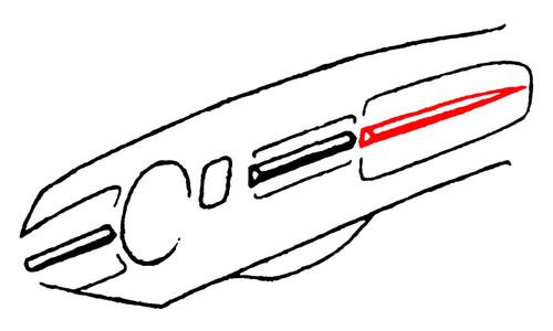 GLOVE BOX DOOR DASH MOLDING