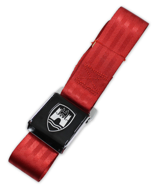2-Point Seat Belt with Black Buckle - Red