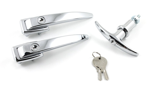 DOOR HANDLE/T HANDLE KEYED SET