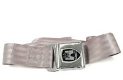 2-Point Bus Seat Belt with Chrome Buckle - Black