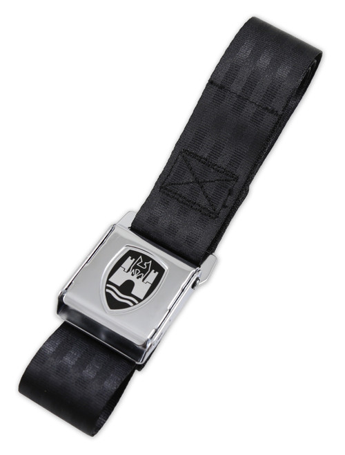 2-Point Seat Belt with Chrome Buckle - Black