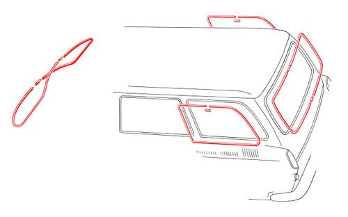 Squareback Window Molding Kit - 4 Piece