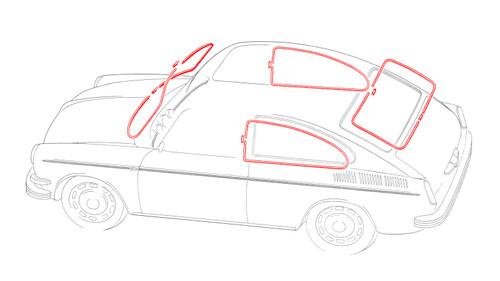 Fastback Window Molding Kit - Non Popout