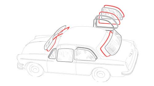 Notchback Window Rubber Kit American Style - 6 Seals