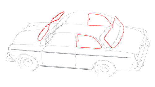 Notchback Window Molding Kit - 4 Piece