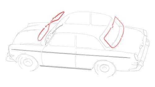 Notchback Window Molding Kit - 2 Piece