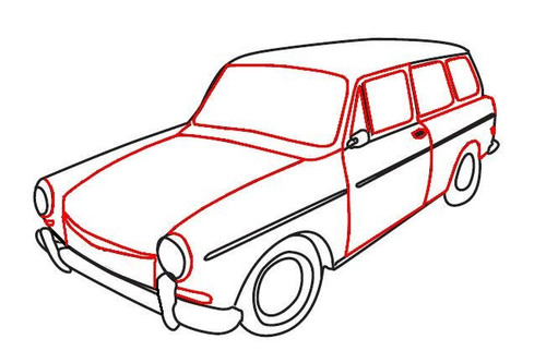 Squareback; Cal-Look Style With Pop-Outs 1964-1965