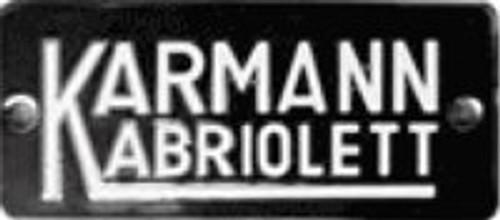 KARMANN BADGE