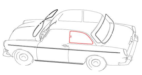 Window Trim - Notchback Left Rear Quarter