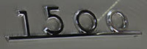 15oo Emblem - Notchback Rear Decklid