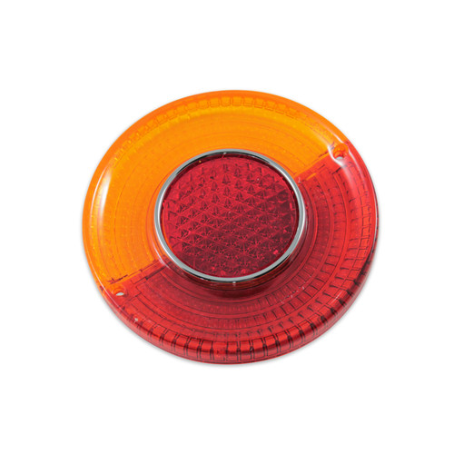 TYPE 34 TAIL LIGHT LENS - AMBER/RED