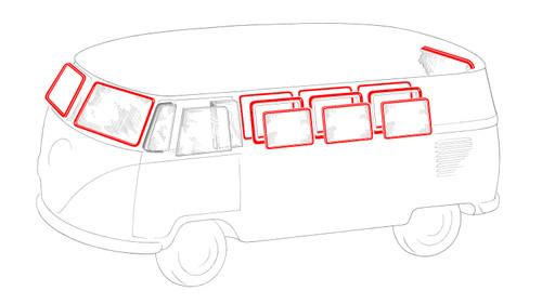 MICRO BUS WINDOW RUBBER KIT 1964-1967