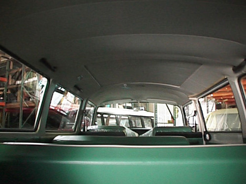 Bus 68-72 Headliner with Sunroof; 8 Bows, 3 Sunroof
