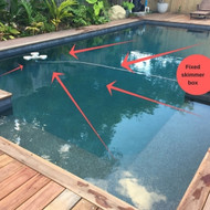 What is a floating pool skimmer?