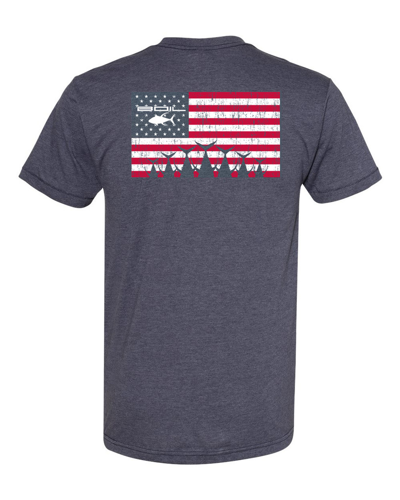 Tails Up Americana Tee (Heather Navy)