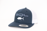 Ahi Special Two-Tone Trucker Snapback (Blue/White)