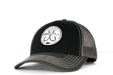 Classic Double Hookup Mesh Snapback  Two-Tone (Black/Grey)