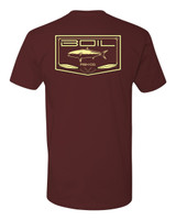 On The Iron Tee (Maroon)