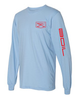 On The Iron Long Sleeve (Baby Blue)