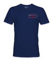 """Tails Up Tee (Navy) """"RED"""""""