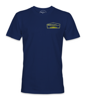 """Tails Up Tee (Navy) """"Yellow"""""""