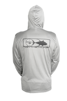 On The Hunt Performance Long Sleeve UPF+50  Hoodie (Grey)