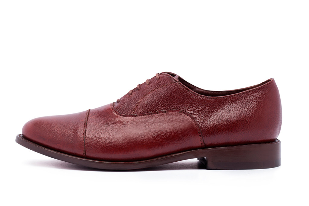 BURGUNDY PEBBLE GRAIN BONUCCI OXFORD