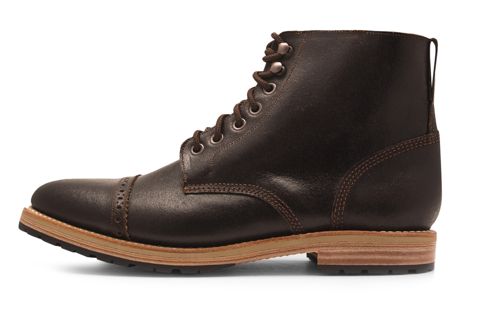 BROWN WAXED FLESH FOOTWEAR