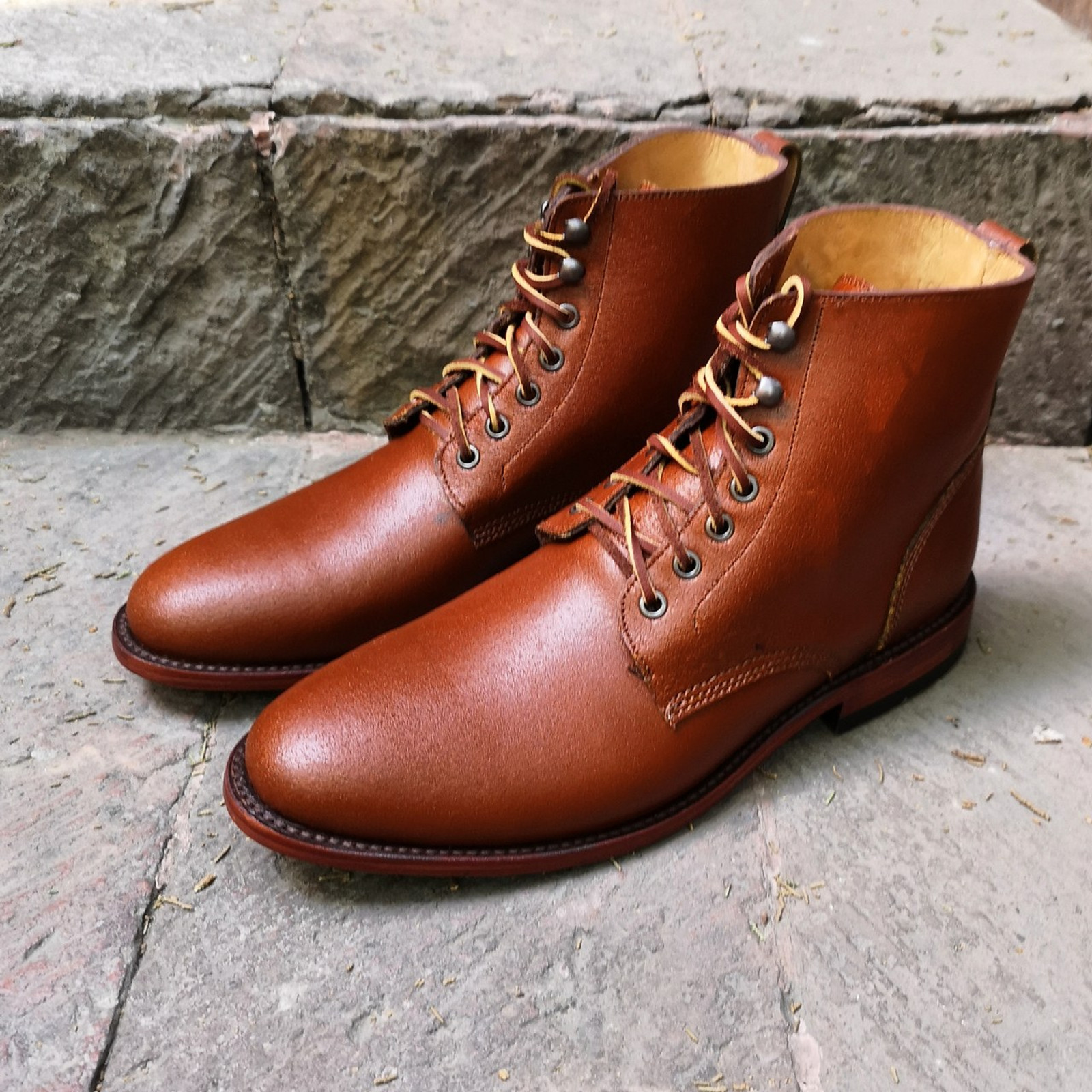 ARGAN WAXED FLESH FOOTWEAR