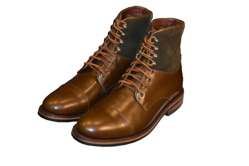Top - Loden Repello Calf Bottom - Brown French Calf