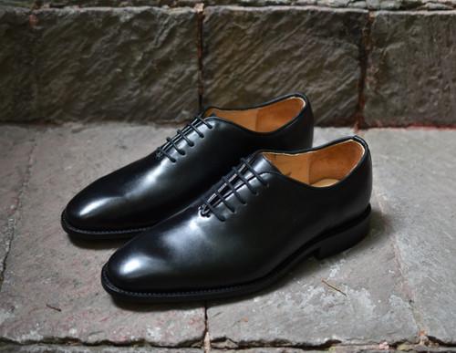 BLACK VEG TANNED CALF FOOTWEAR