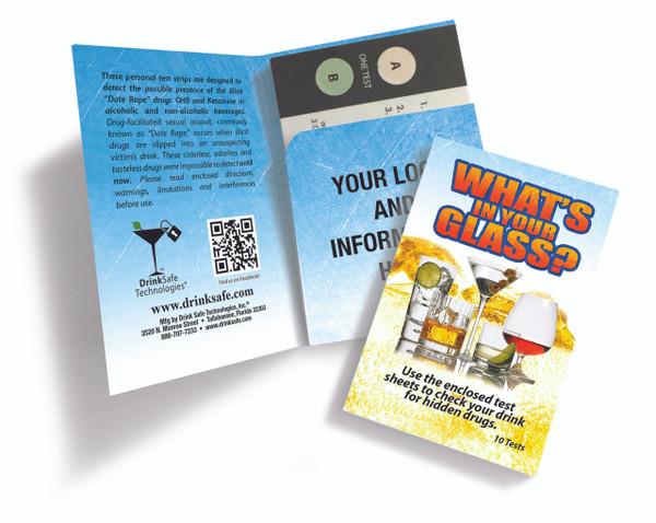 10-Pack of Date Rape Drug Test Kits (10 Strips / 20 Tests)