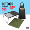 Outdoors Hot Plate Grill + Bonus Apron