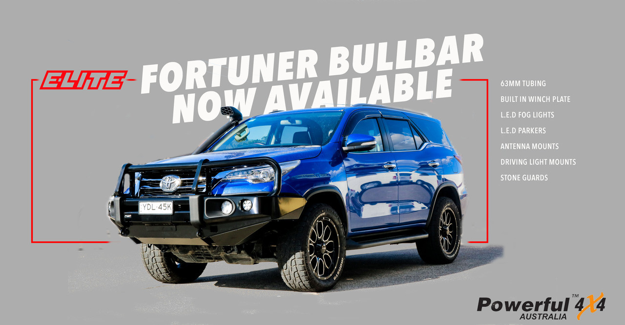 Rockarmor Elite Bullbar suits TOYOTA  FORTUNER 2015-Current