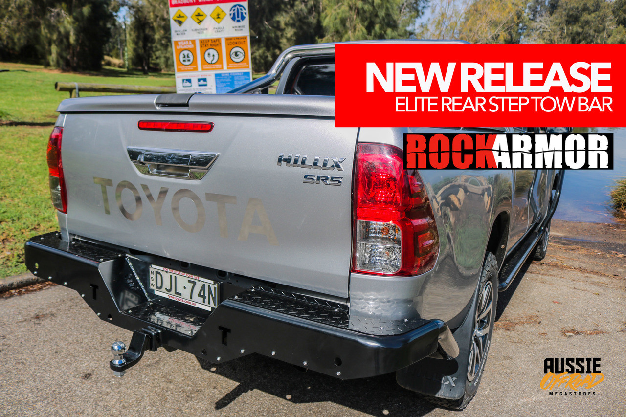 Toyota Hilux 15+ Rockarmor Steel Elite Rear Step tow bar