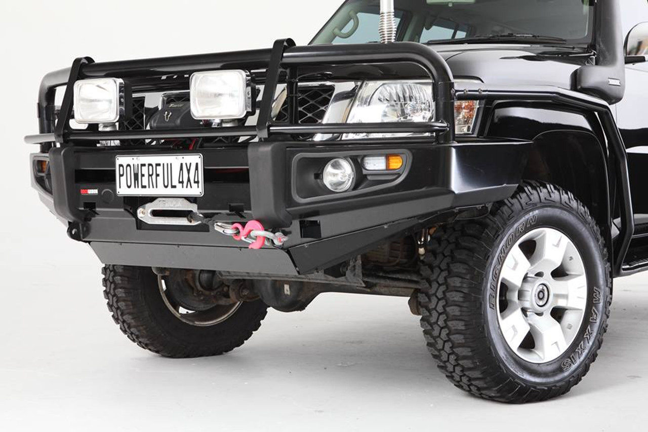 Rock Armor Side Steps & Brush Bar Combo Nissan Patrol GU4,5,6,7,8 (2004-12)