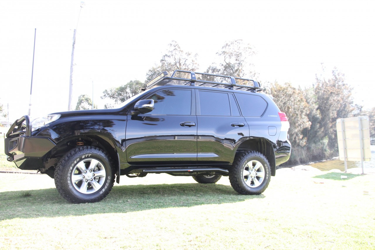 Toyota Prado landcruiser 150 Series Rockslider Steel Side steps  Side Airbag Approved