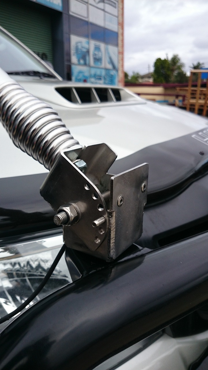 Folding Antenna Bracket (stainless)