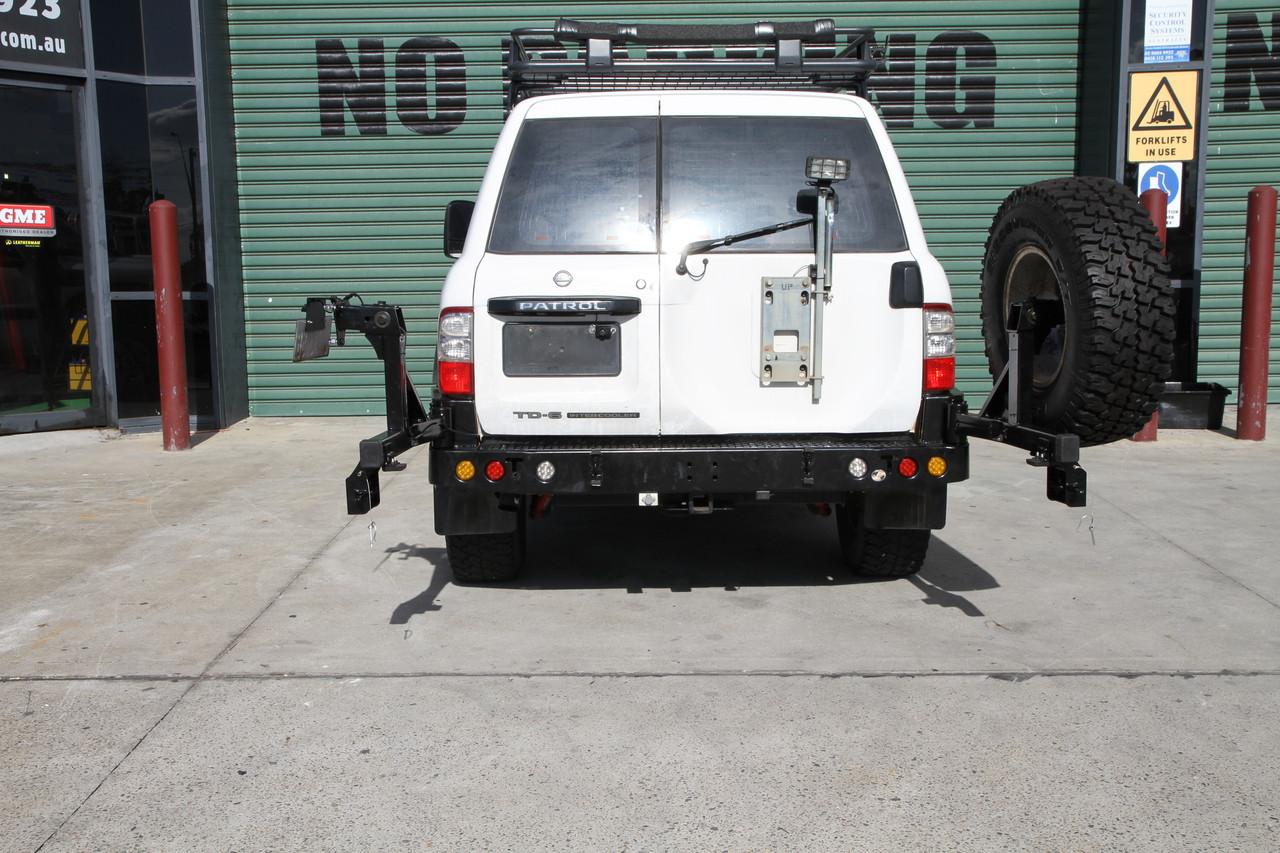 Nissan GU Y61 PATROL 97-2003  Rockarmor Gen III Wheel Carrier
