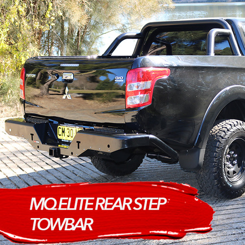 MQ TRITON ROCKARMOR ELITE REAR STEP TOW BAR