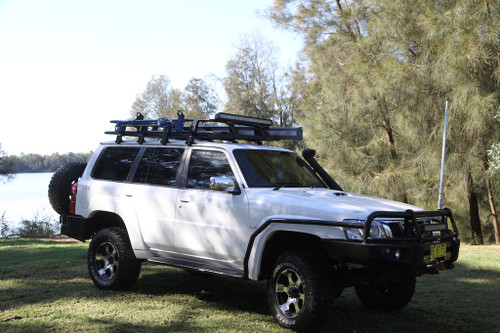 Rock Armor Side Steps & Brush Bar Combo Nissan Patrol GU4,5,6,7,8 (2004-12)