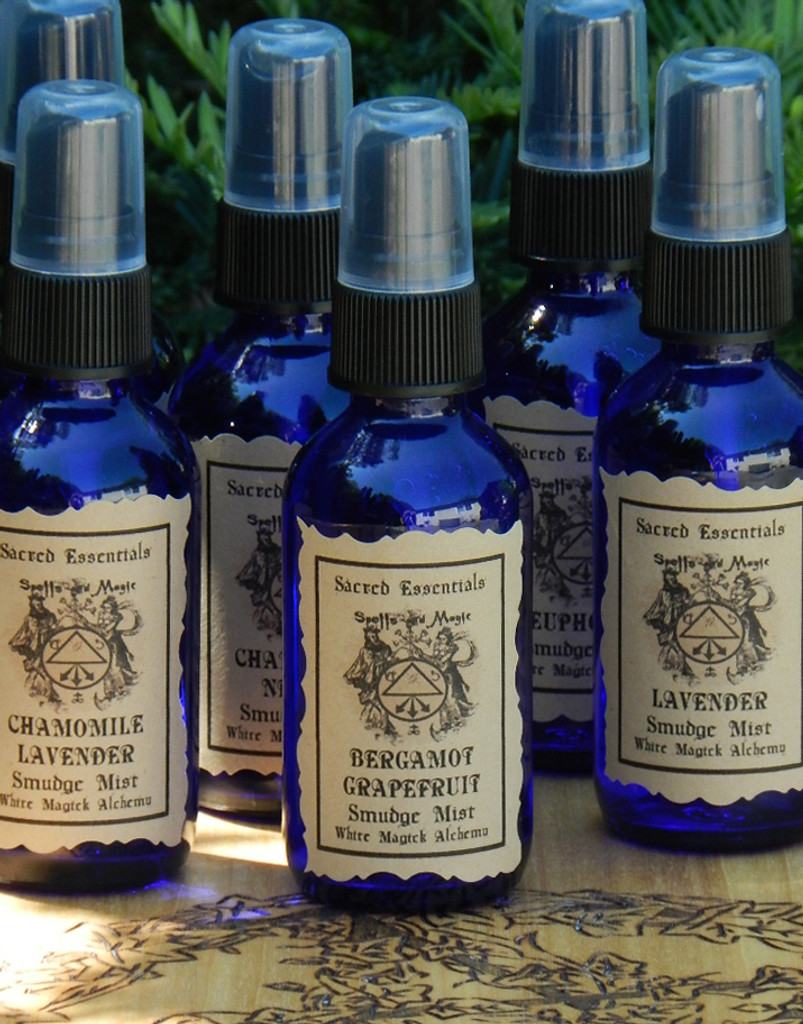 Bergamot Grapefruit . Sacred Essentials Smudge Mist Spray 1oz . Purification of Sacred Space, Clarity, Abundance, Prosperity, Money