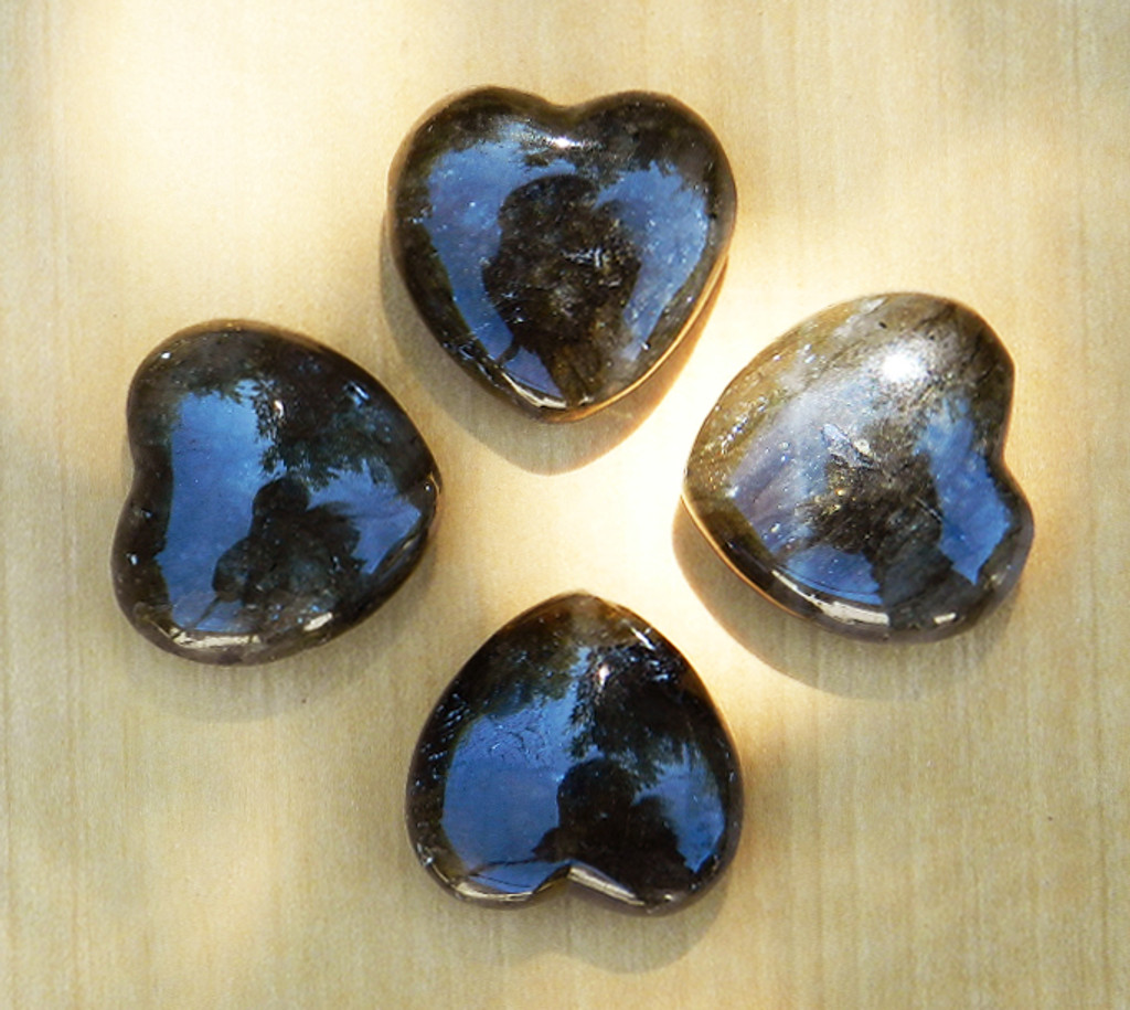 Labradorite Heart . Intuition, Strength, Anxiety, Depression, Self-Confidence, Healing