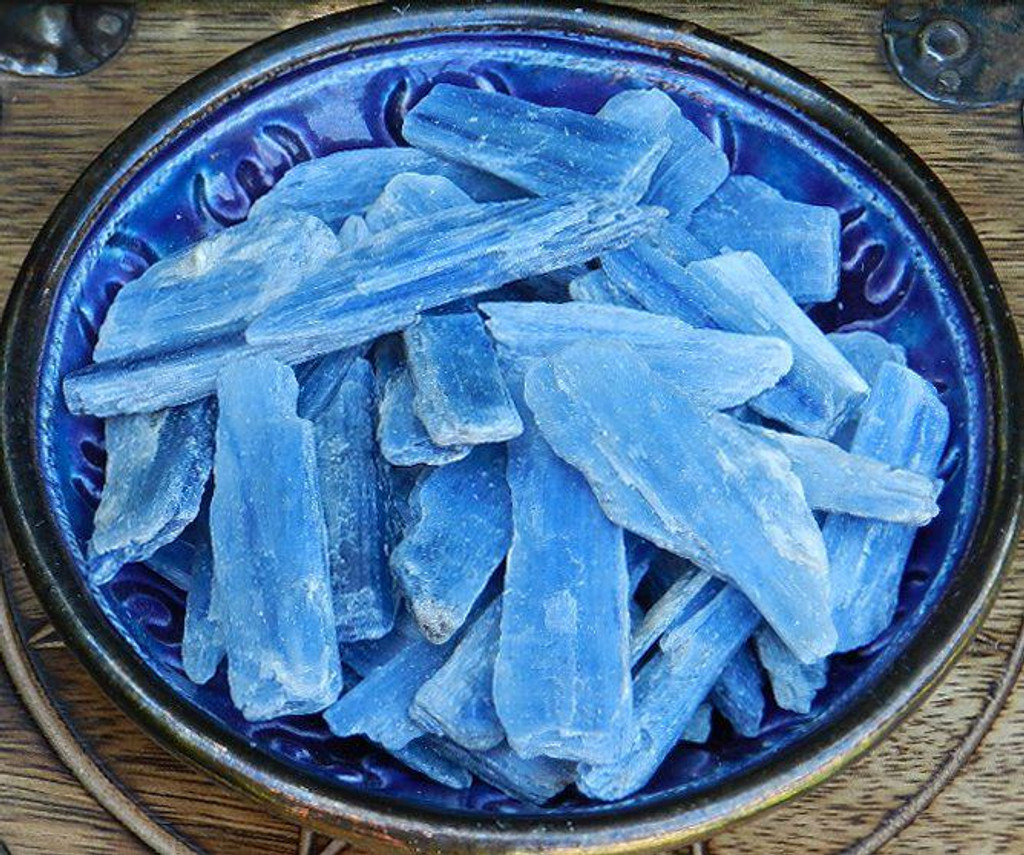 Blue Kyanite Natural Pieces Set of 10