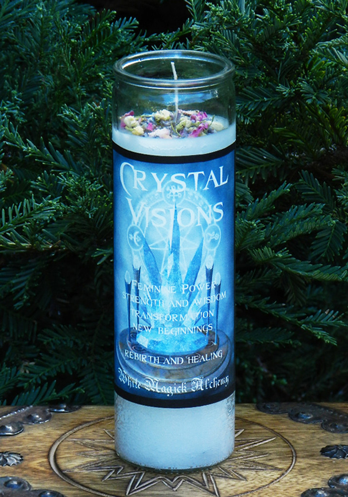 Crystal Visions Ritual Spell Jar Vigil Candle . Change, New Beginnings