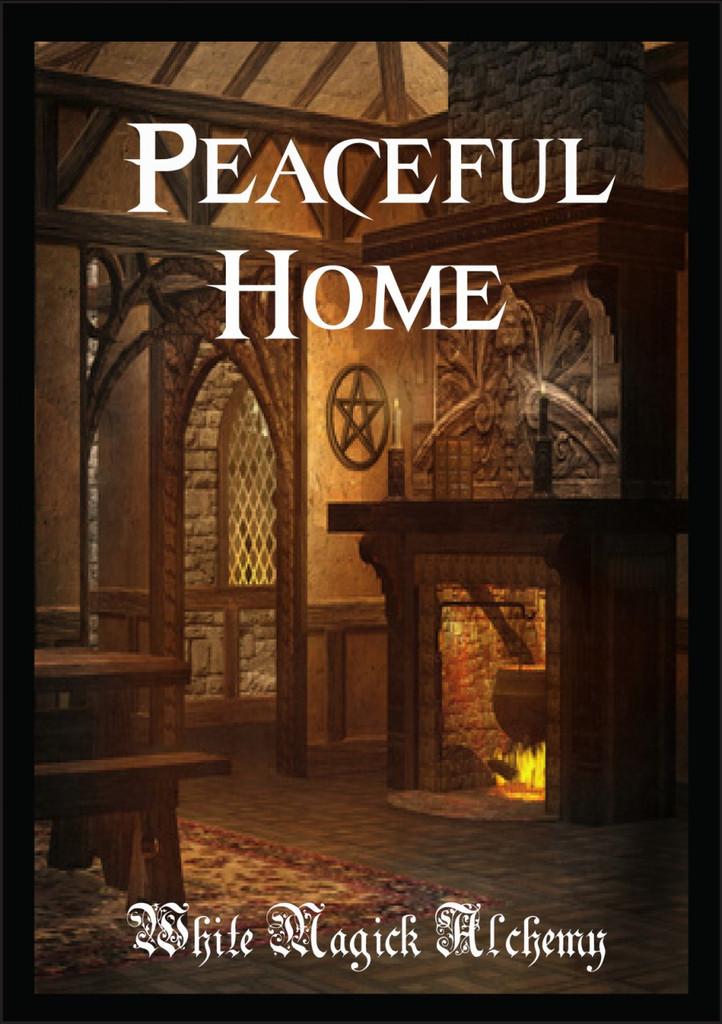 Peaceful Home Ritual Spell Jar Vigil Candle . Banishing Negative Energy Flows