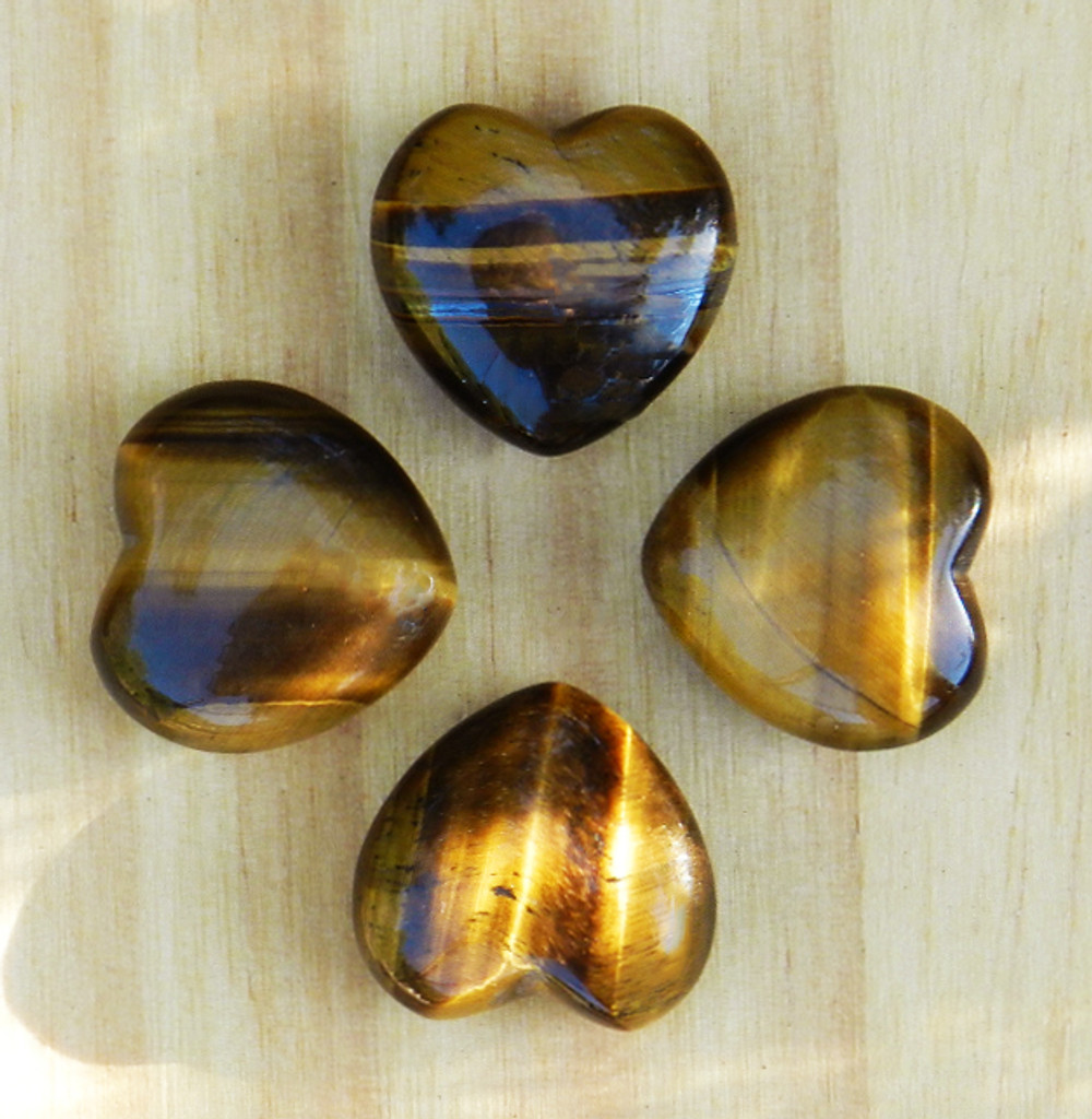 Tiger Eye Gemstone Heart . AAA BEST GRADE for Abundance, Prosperity, Courage, Luck, Healing