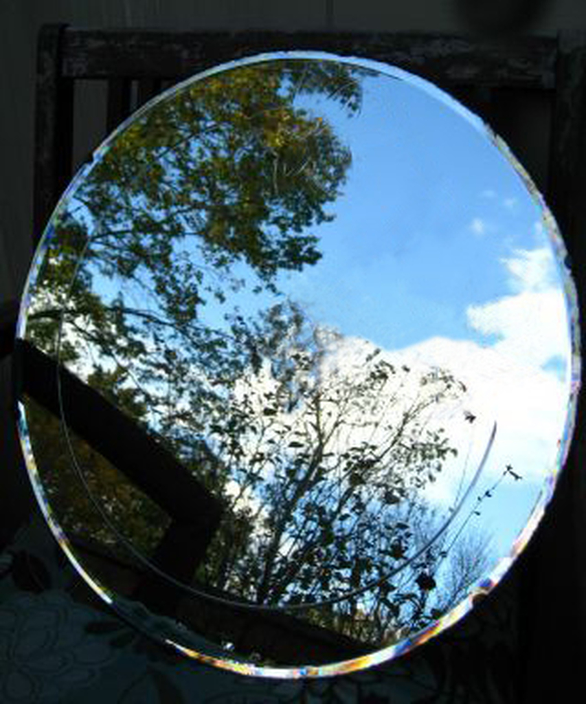 """Mirror Plate  4"""" for Reversing Spells & Mirror Return"""